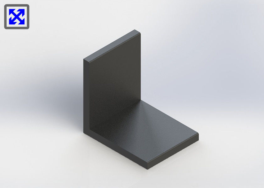 Customized Black Anodized Aluminum Angle , Aluminium Angle Profiles Highly Durable